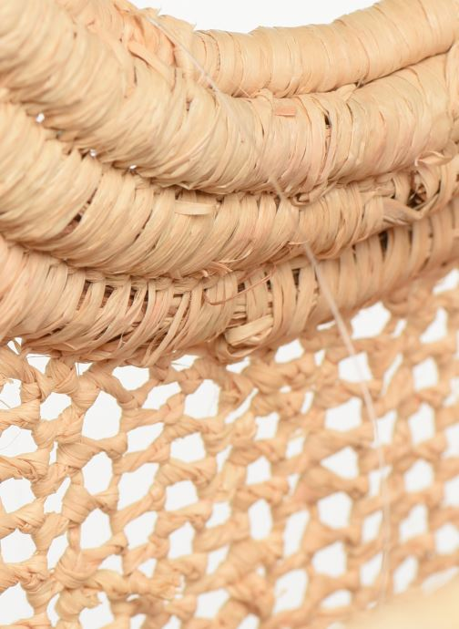 Sacs à main Etincelles Sac Raphia Crochet Beige vue derrière