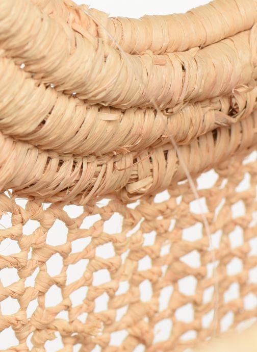 Handtaschen Etincelles Sac Raphia Crochet beige ansicht von hinten
