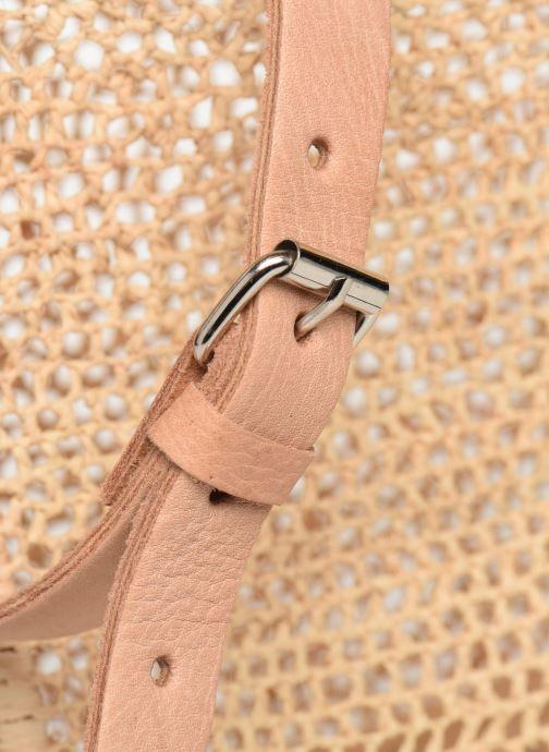 Handtaschen Etincelles Sac Raphia Crochet beige ansicht von links