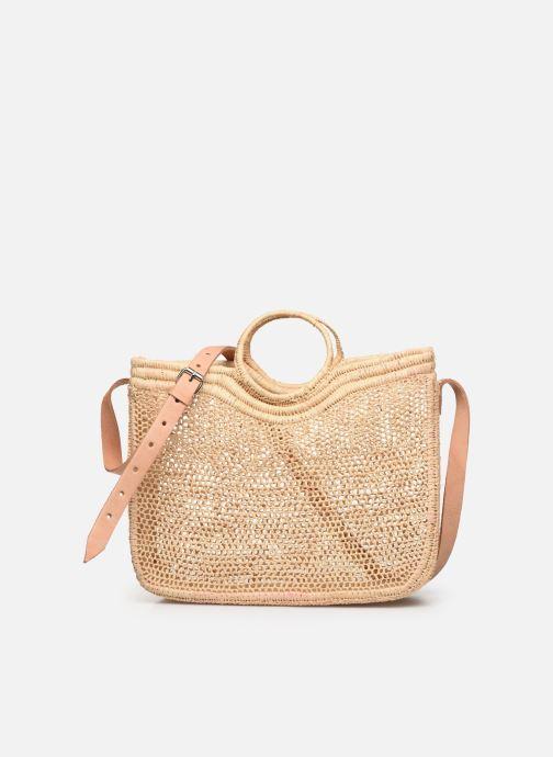 Handtaschen Etincelles Sac Raphia Crochet beige detaillierte ansicht/modell