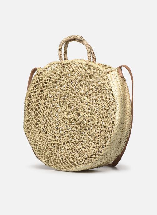 Handtaschen Etincelles Panier Rond Ajouré beige schuhe getragen