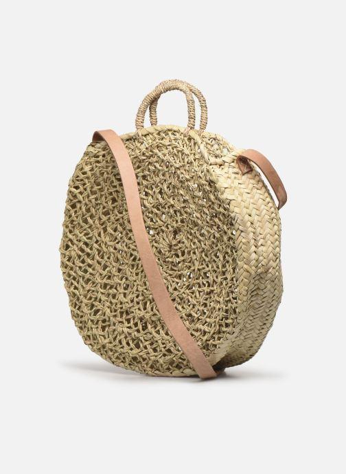 Handtaschen Etincelles Panier Rond Ajouré beige ansicht von rechts