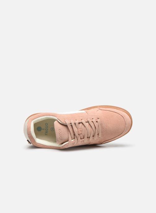 Sneakers Faguo BASKETS HAZEL SUEDE VP Rosa immagine sinistra