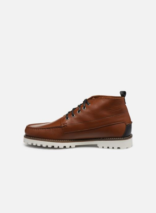 Ankle boots Faguo BOOTS LARCHMID LEATHER VP Brown front view