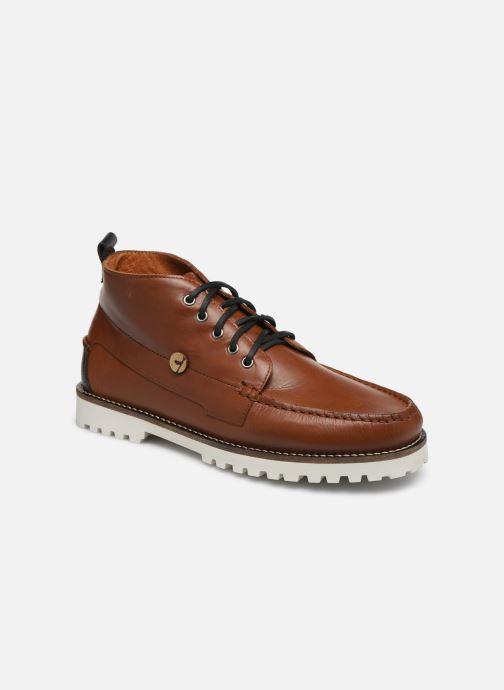 Bottines et boots Faguo BOOTS LARCHMID LEATHER VP Marron vue détail/paire