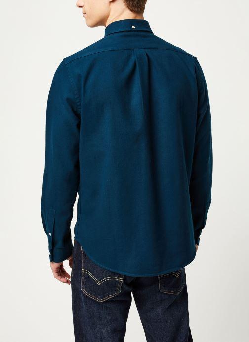Vêtements Faguo CERISY SHIRT COTTON VP Bleu vue portées chaussures