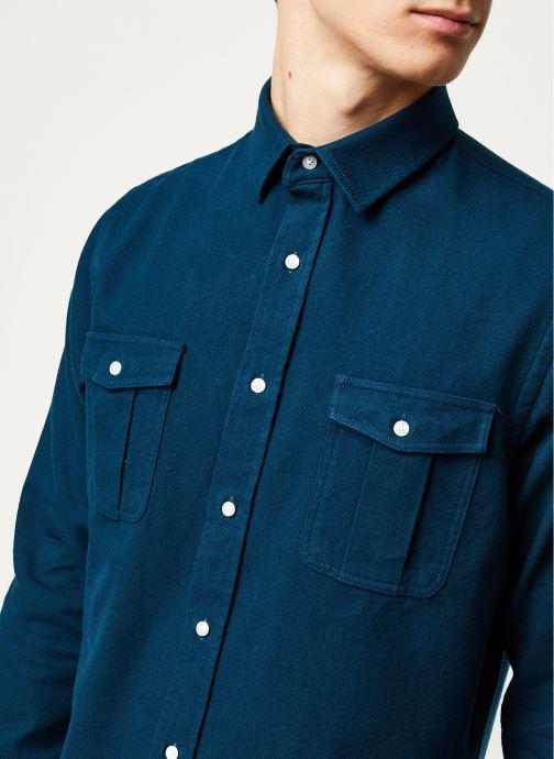 Vêtements Faguo CERISY SHIRT COTTON VP Bleu vue face