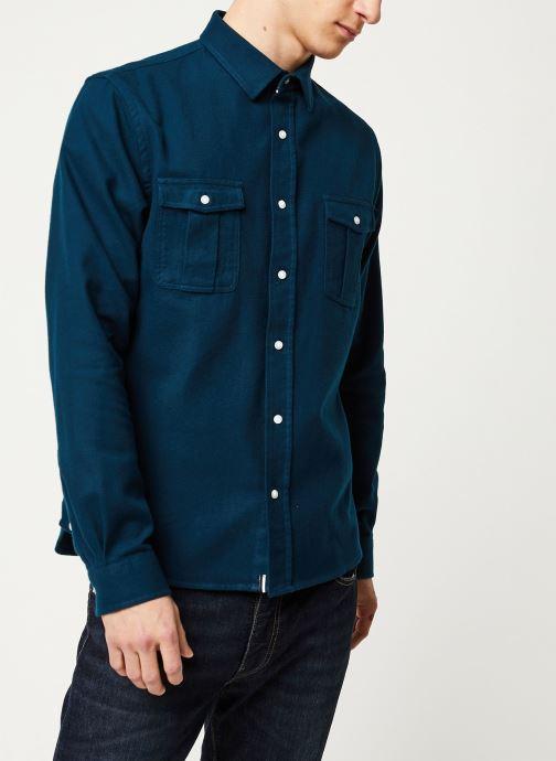 Vêtements Faguo CERISY SHIRT COTTON VP Bleu vue droite