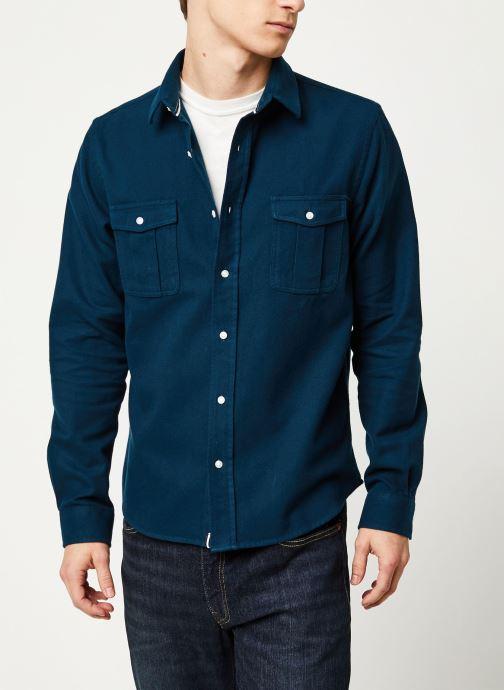 Vêtements Faguo CERISY SHIRT COTTON VP Bleu vue détail/paire