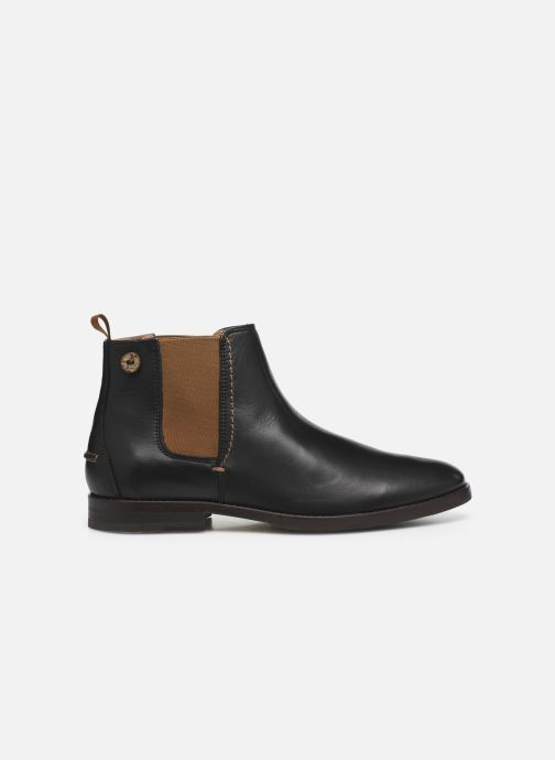 Botines  Faguo Cork Leather  VP Negro vistra trasera