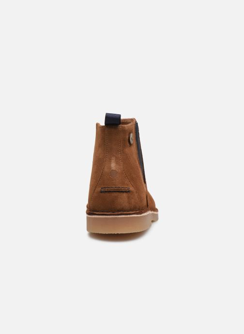 Ankle boots Faguo Cork VP Brown view from the right