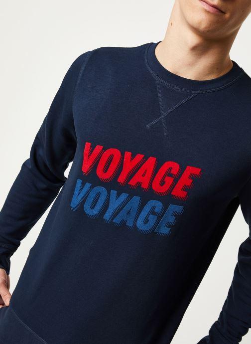 Vêtements Faguo DARNEY SWEAT COTTON VP VP Bleu vue face