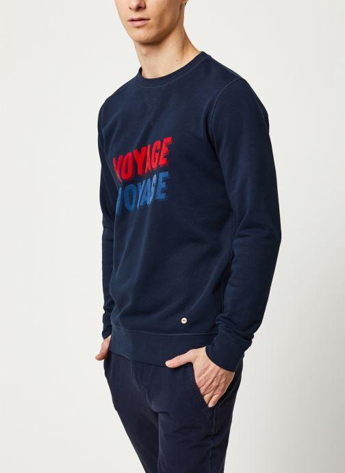 Vêtements Faguo DARNEY SWEAT COTTON VP VP Bleu vue droite