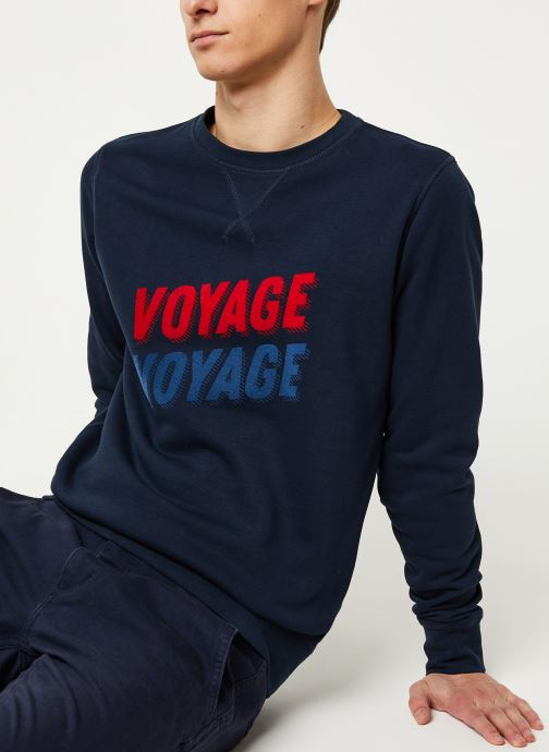 Vêtements Faguo DARNEY SWEAT COTTON VP VP Bleu vue détail/paire