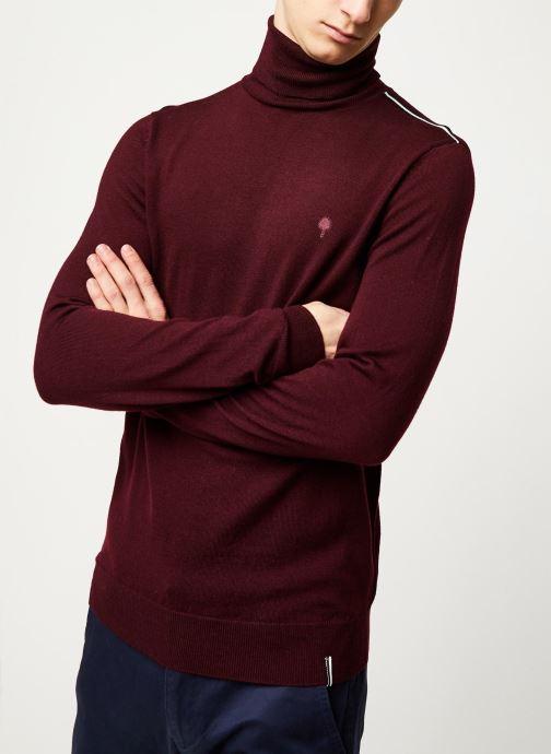 Vêtements Faguo FAROZ SWEATER WOOL VP Bordeaux vue détail/paire