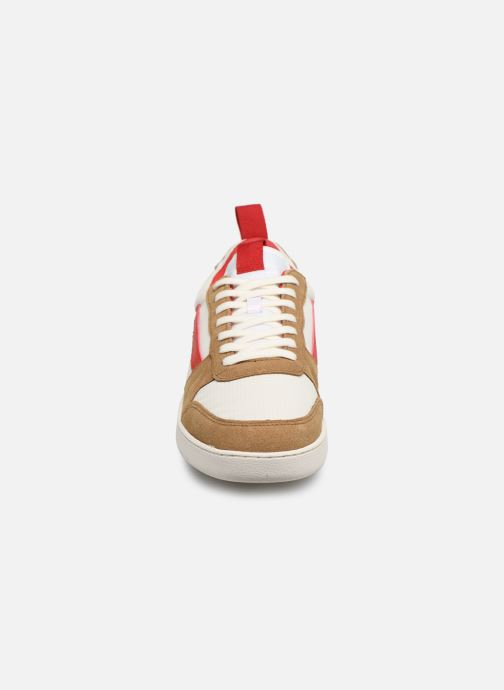 Baskets Faguo HAZEL SYN WOV LEATHER VP Blanc vue portées chaussures