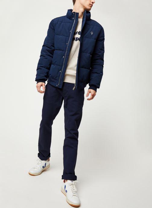 Vêtements Faguo LONGNY PADDED SYN WOV VP Bleu vue bas / vue portée sac