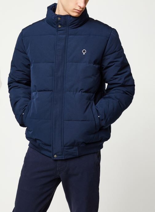 Vêtements Faguo LONGNY PADDED SYN WOV VP Bleu vue droite