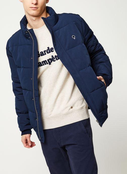 Vêtements Faguo LONGNY PADDED SYN WOV VP Bleu vue détail/paire