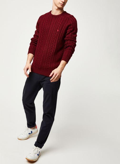 Vêtements Faguo MARIGNY SWEATER WOOL VP Bordeaux vue bas / vue portée sac