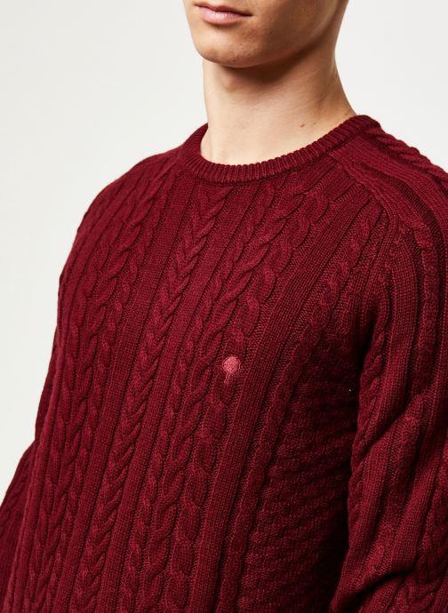 Vêtements Faguo MARIGNY SWEATER WOOL VP Bordeaux vue face