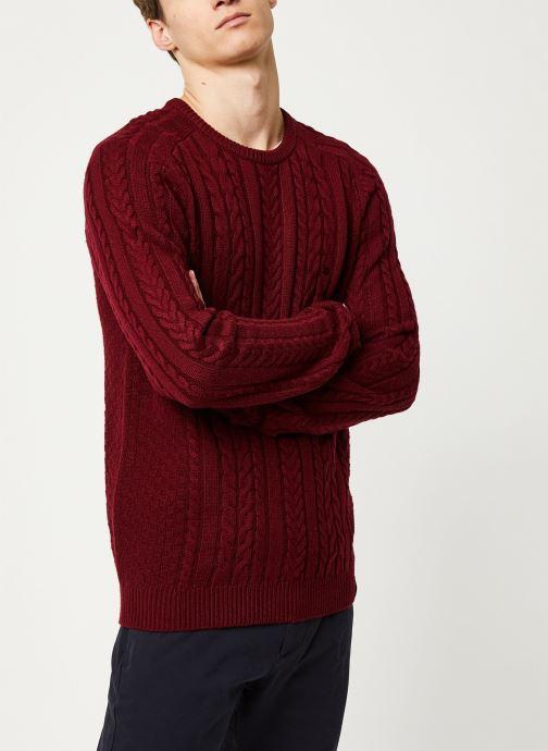 Vêtements Faguo MARIGNY SWEATER WOOL VP Bordeaux vue droite