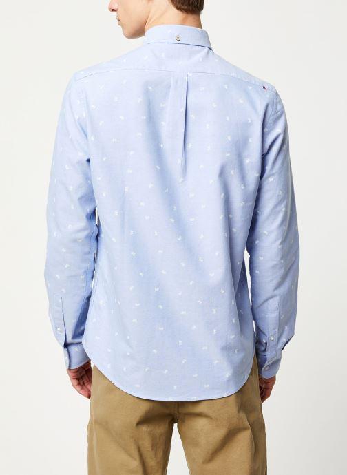 Vêtements Faguo ONCA SHIRT COTTON VP Bleu vue portées chaussures