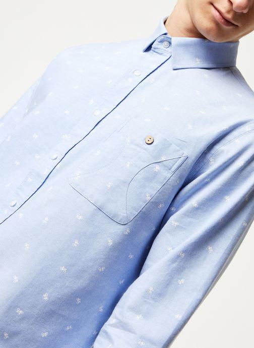 Vêtements Faguo ONCA SHIRT COTTON VP Bleu vue face