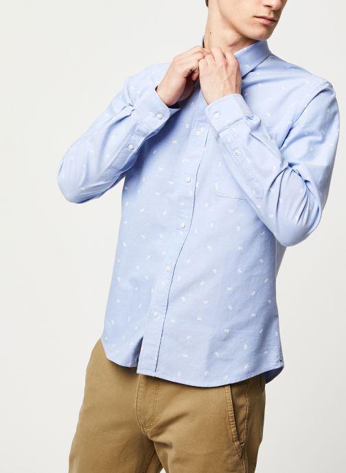 Vêtements Faguo ONCA SHIRT COTTON VP Bleu vue droite