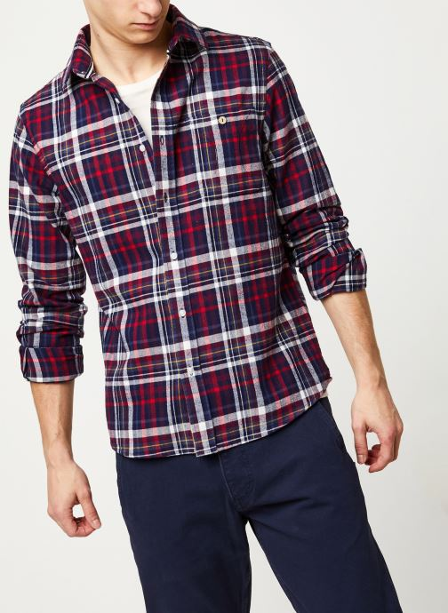 Vêtements Faguo ONCA SHIRT FLANNEL VP Multicolore vue détail/paire
