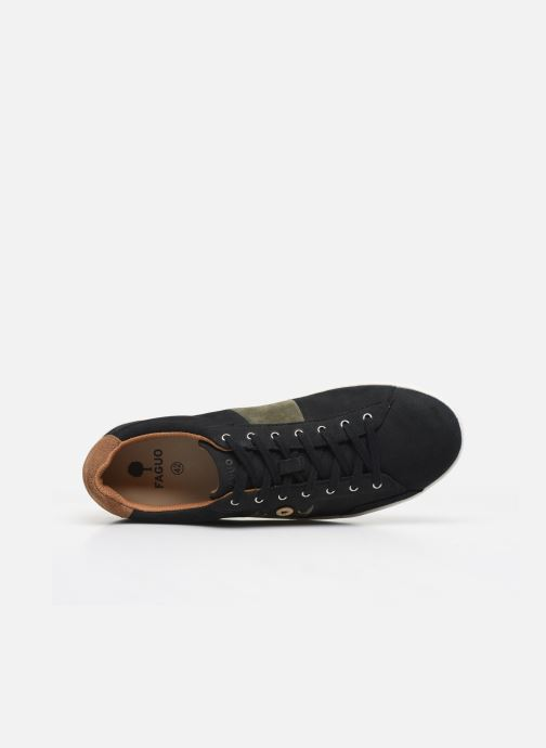Sneakers Faguo TENNIS HOSTA LEATHER SUEDE N VP Nero immagine sinistra