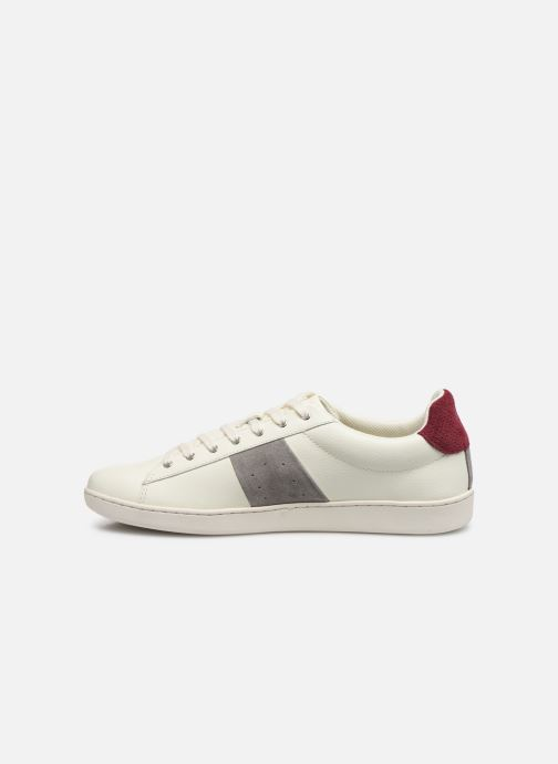 Baskets Faguo TENNIS HOSTA LEATHER SUEDE N VP Blanc vue face