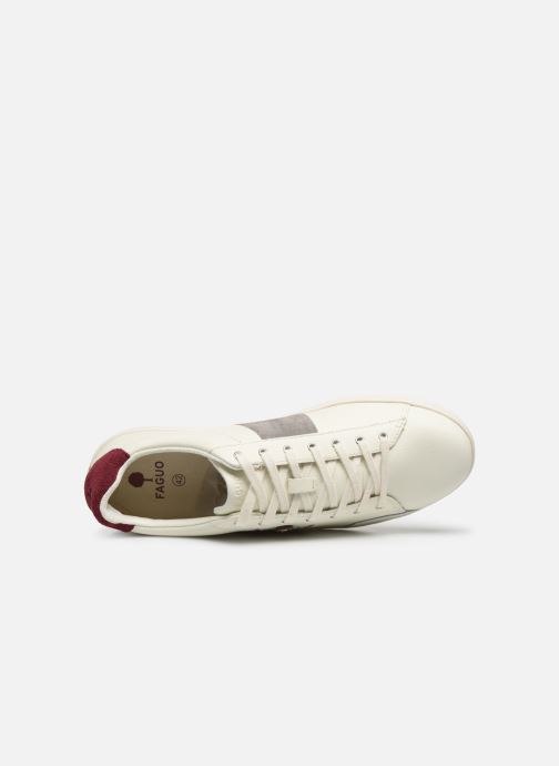 Deportivas Faguo TENNIS HOSTA LEATHER SUEDE N VP Blanco vista lateral izquierda