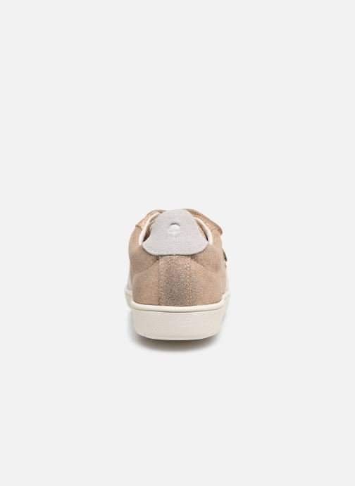 Baskets Faguo TENNIS HOSTAV SUEDE VP Or et bronze vue droite