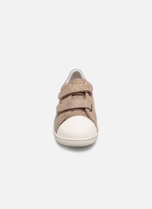 Baskets Faguo TENNIS HOSTAV SUEDE VP Or et bronze vue portées chaussures
