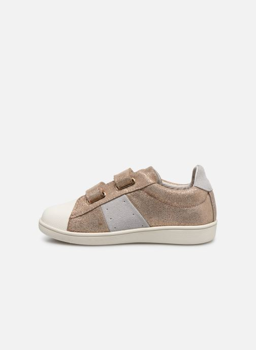 Baskets Faguo TENNIS HOSTAV SUEDE VP Or et bronze vue face