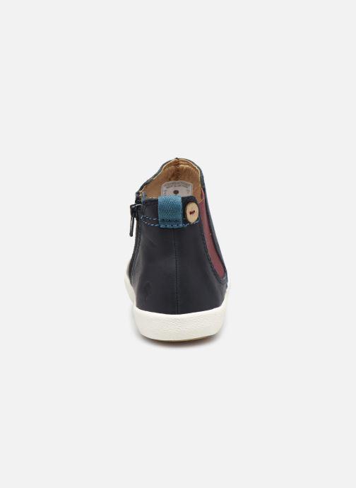 Bottines et boots Faguo TENNIS LILAC LEATHER VP Bleu vue droite