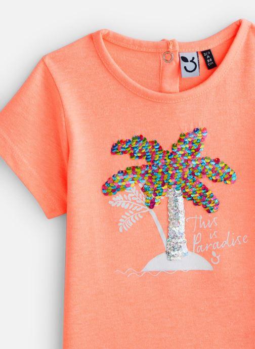 Vêtements 3 Pommes T-Shirt 3Q10122 Orange vue portées chaussures