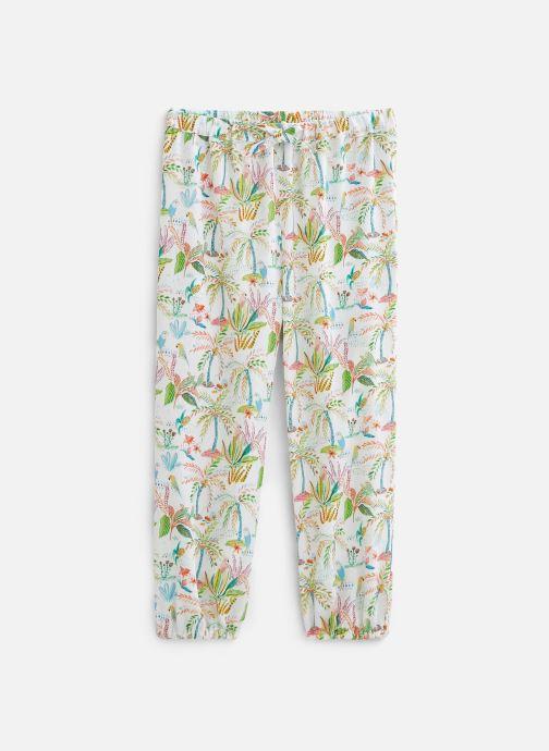 Vêtements 3 Pommes Pantalon blanc 3Q22032 Multicolore vue détail/paire