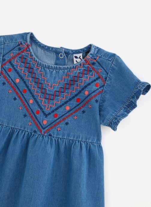 Vêtements 3 Pommes Robe à manches courtes 3Q30142 Bleu vue portées chaussures