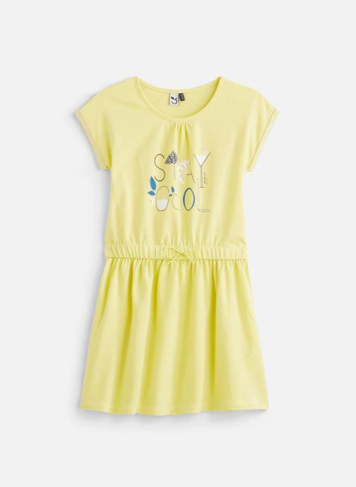 Vêtements 3 Pommes Robe à manches courtes 3Q30004 Jaune vue détail/paire