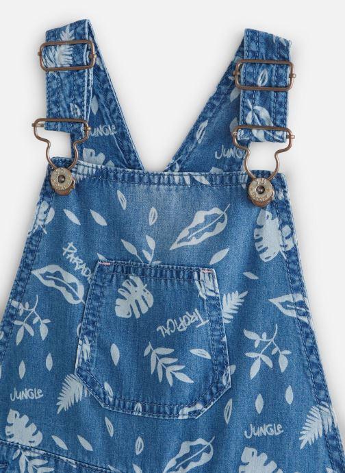 Vêtements 3 Pommes Salopette denim 3Q21054 Bleu vue portées chaussures