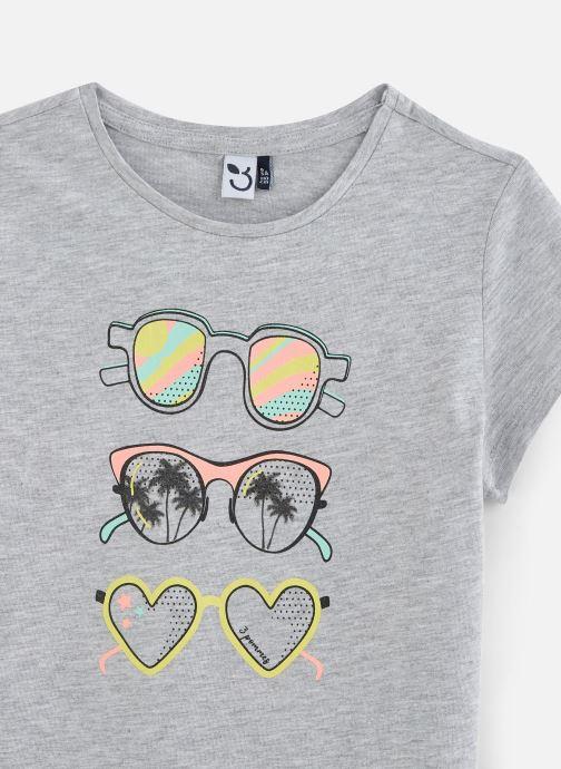 Vêtements 3 Pommes T-Shirt 3Q10994 Gris vue portées chaussures