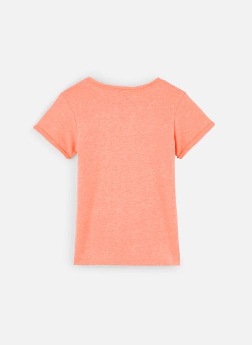 Vêtements 3 Pommes Tee-shirt orange fluo 3Q10014 Orange vue bas / vue portée sac
