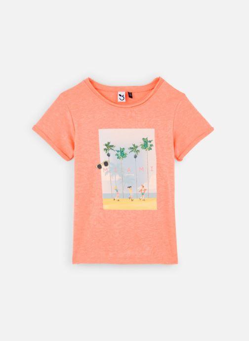 Vêtements 3 Pommes Tee-shirt orange fluo 3Q10014 Orange vue détail/paire