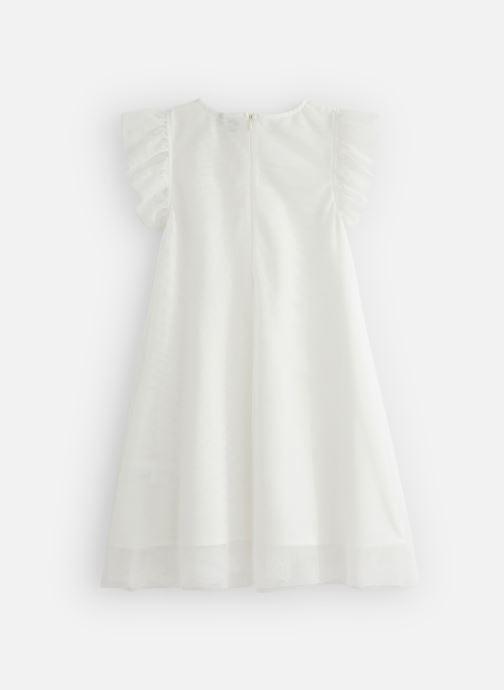 Vêtements 3 Pommes Robe à tulle brodée 3Q30134 Blanc vue bas / vue portée sac
