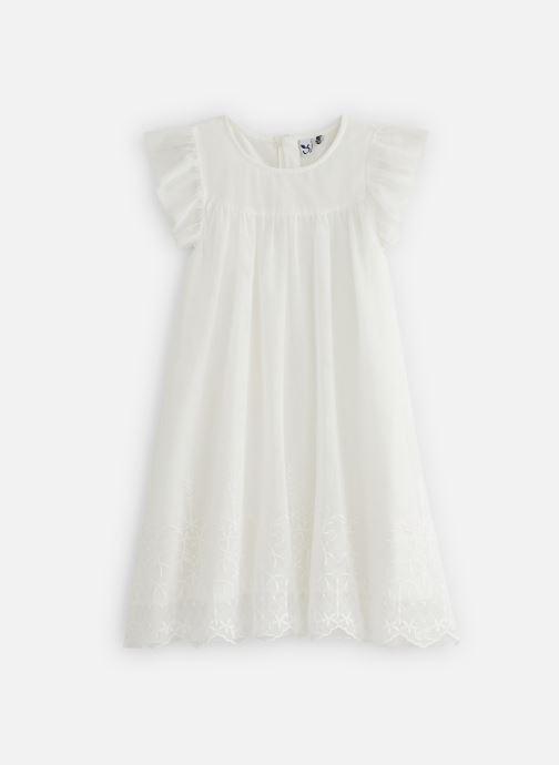 Vêtements 3 Pommes Robe à tulle brodée 3Q30134 Blanc vue détail/paire
