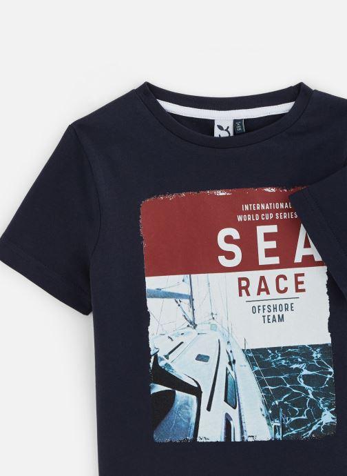 Kleding 3 Pommes T-Shirt 3Q10015 Blauw model