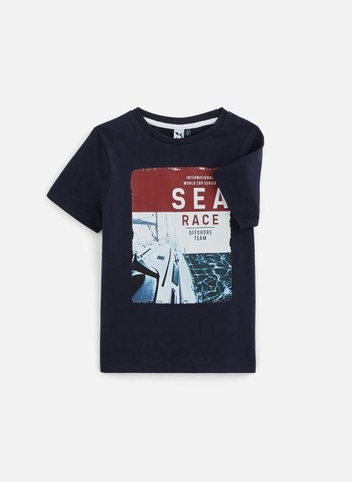 Kleding 3 Pommes T-Shirt 3Q10015 Blauw detail