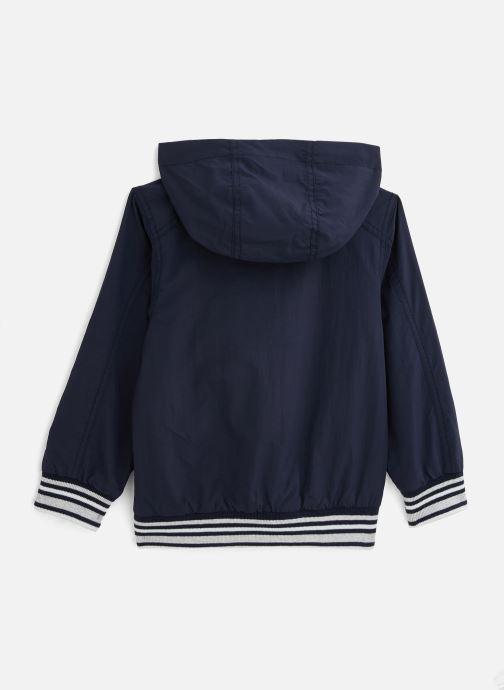 Vêtements 3 Pommes Bluson à capuche 3Q41015 Bleu vue bas / vue portée sac
